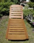 Drewniany leżak do ogrodu z półeczką na napój opinie, cena
