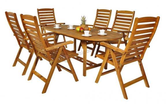 stół drewniany owalny