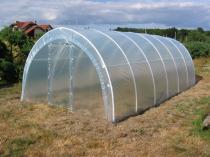 Tunel ogrodowy z metalowymi drzwiami 12 * 3m