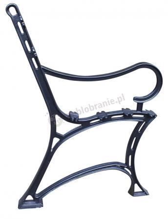 Noga żeliwna do ławki z podłokietnikiem