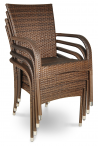 Krzesła technorattanowe sztaplowane