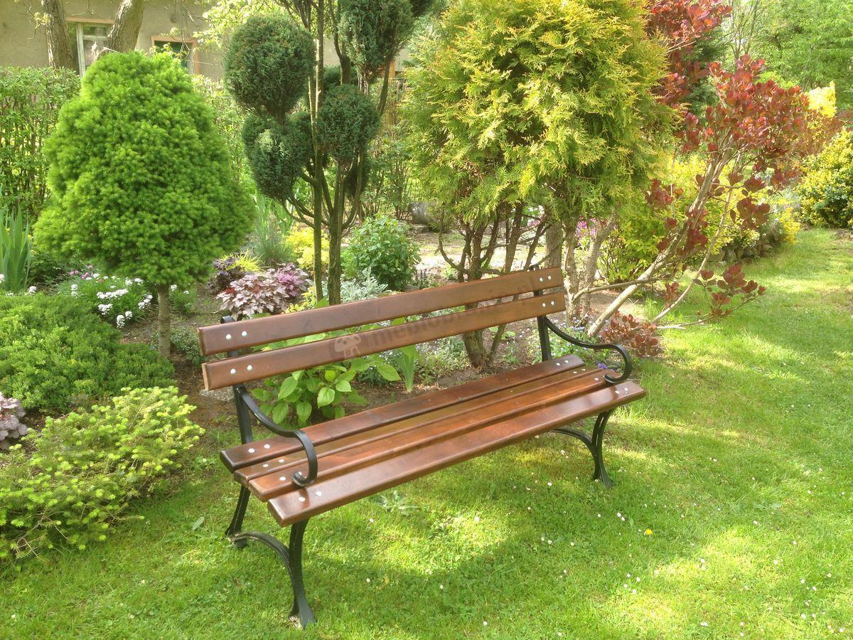 Meble Ogrodowe Technorattan Bello Giardino : Ławka ogrodowa żeliwna z podłokietnikami 150cm  Meblobraniepl