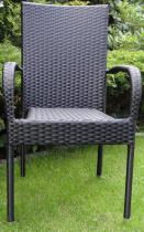 Krzesło technorattanowe CZARNE