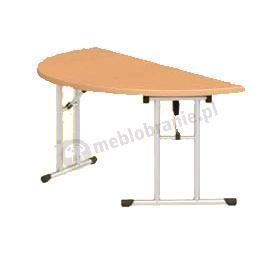Stół konfrencyjny składany półokrągły