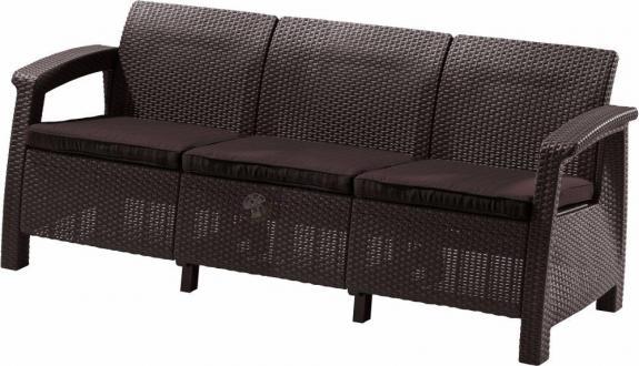Sofa ogrodowa Corfu Love Seat Max - brązowa/czekoladowa