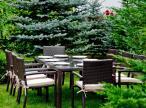 Komplet Ombroso osiem krzeseł i stół 200x100
