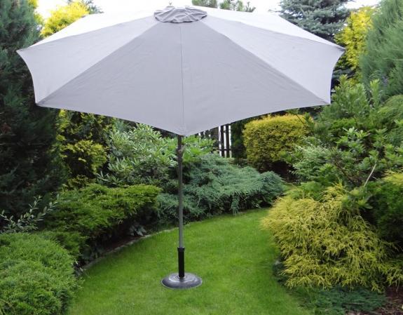 Stoły Ogrodowe Plastikowe Rozkładane : Parasol ogrodowy 300 cm ciemnoszary  Meblobraniepl[R