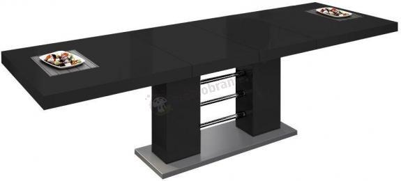 Stół Linosa 2 - Czarny połysk