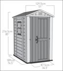 Wymiary domku ogrodowego Keter Factor 4x6