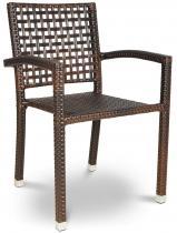 Krzesło technorattan ROCA brown