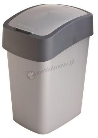Kosz na śmieci Curver Flip Bin 10 L srebrno-szary