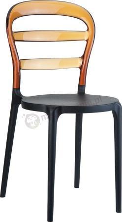 Krzesło Miss Bibi Czarny Bursztynowy
