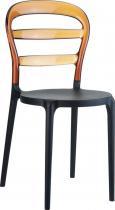 Krzesło Miss Bibi Czarne / Bursztynowe