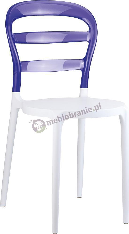 Krzesło Miss Bibi Białe / Fioletowe