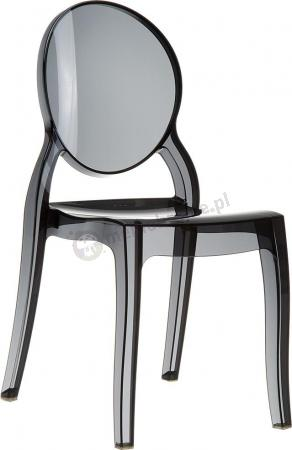 Krzesło Elizabeth Black Transparent