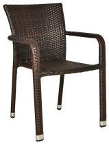 Krzesło technorattan NEGROS brown