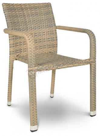 Krzesło technorattan NEGROS grey