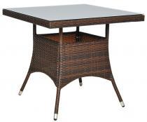 Stół technorattan kwadratowy LUGO brown