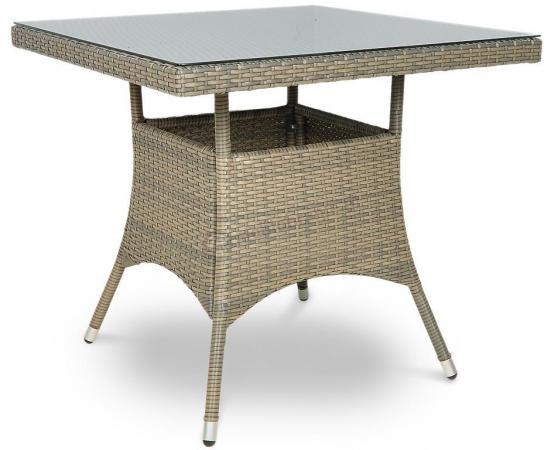 Stół technorattan kwadratowy LUGO grey