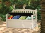 Skrzynia na poduszki do mebli ogrodowych z siedziskiem
