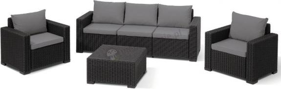 Meble ogrodowe Allibert California 3 seater grafit