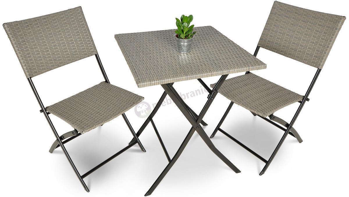 zestaw mebli na balkon smart technorattan szary. Black Bedroom Furniture Sets. Home Design Ideas