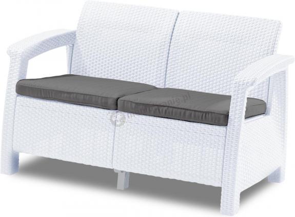 Sofa ogrodowa Corfu Love Seat - biała