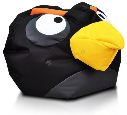 Pufa dziecięca Angry Birds czarna