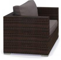 Fotel technorattanowy NILAMITO Brown & Grey
