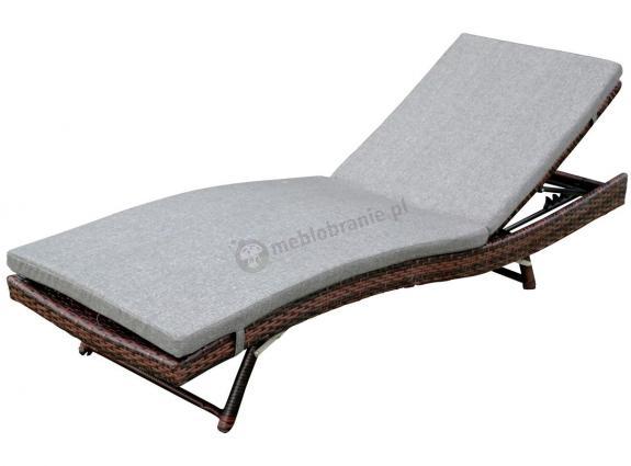 Leżak z technorattanu NILAMITO Brown & Grey
