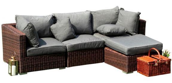 Meble wypoczynkowe ogrodowe Ligurito IV Brown Elite & Grey