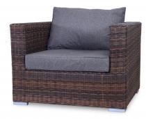 Fotel z technorattanu LIGURITO Brown Elite & Grey