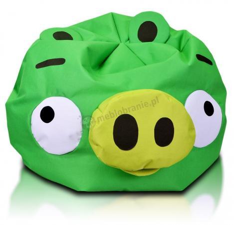 Pufa dziecięca Angry Birds Minion Pig zielona