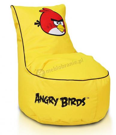 Pufa dla dziecka w kolorze żółtym Angry Birds