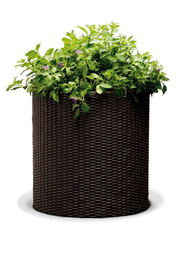 Cylindryczna Doniczka Keter Medium Planter M 18l Brązowa