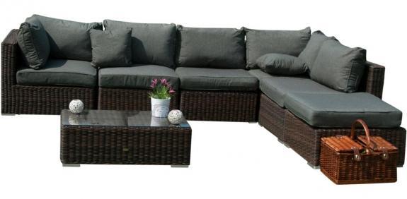 Meble wypoczynkowe ogrodowe Ligurito VIII Brown Elite & Grey