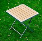 Jasnobrązowy stolik z blatem pollywood Piccolo
