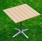 Kwadratowy stolik z tworzywa Pollywood Quattro