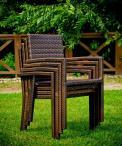 Sztaplowane krzesła zestaw Tondo