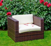 Fotel ogrodowy z technorattanu do mebli Bello Giardino