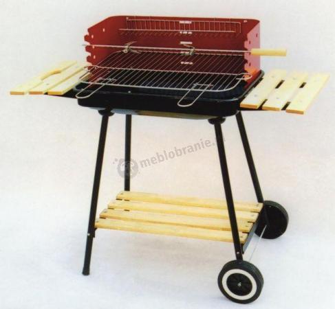 Grill ogrodowy węglowy na kółkach - 58x38cm
