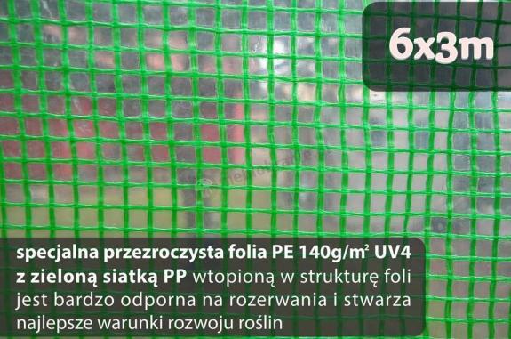 Folia na tunel foliowy metalowy 6x3m