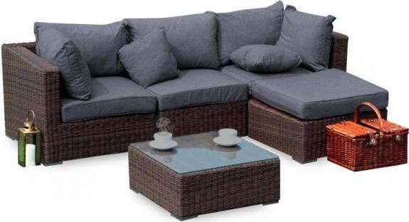 Meble wypoczynkowe ogrodowe Ligurito V Brown Elite & Grey