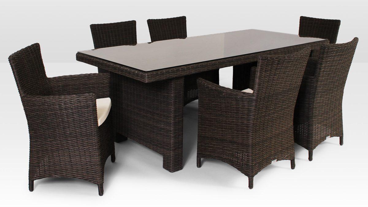 Komplet Z Technorattanu La Vita 200cm I 6 Foteli Amanda Royal