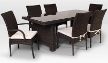Komplet z technorattanu La Vita 200cm i 6 krzeseł