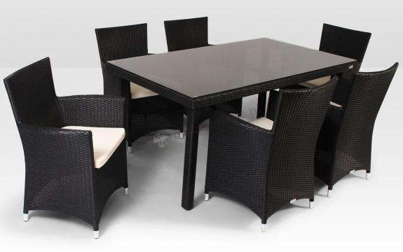 Meble Z Technorattanu Allegro 160cm I 6 Foteli Amanda Modern