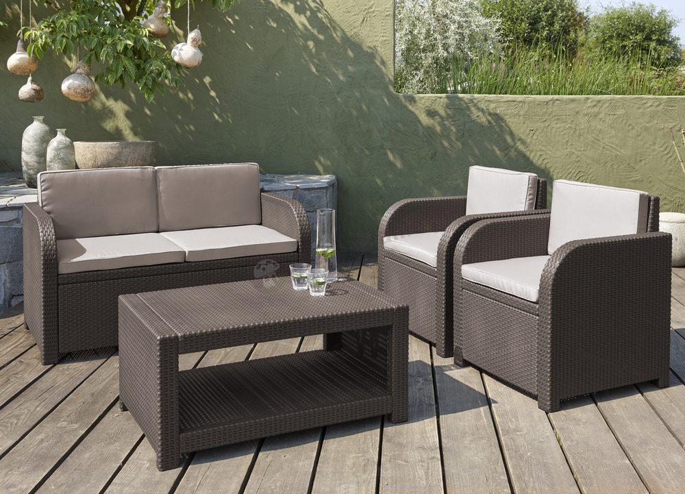 Modena Lounge Set  Allibert by Keter  Zestaw ogrodowy  Meblobranie