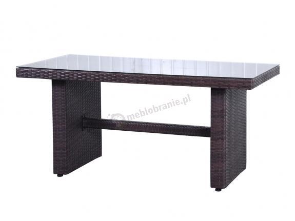 Stół z technorattanu NILAMITO 140x70 Brown