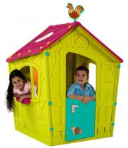 Domek ogrodowy dla dzieci Magic Playhouse zielony - fioletowy