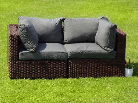 Sofa technorattanowa Ligurito Brown Elite & Grey